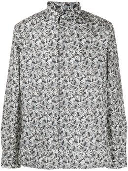 Fendi рубашка с геометричным принтом FS0814AAPG
