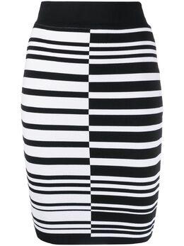 Balmain юбка-карандаш в полоску TF04307K079