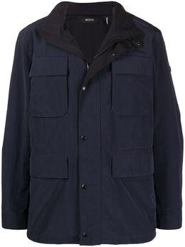 Z Zegna куртка с карманами и воротником-воронкой VU024ZZ199