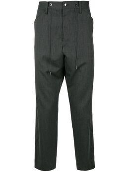 Fumito Ganryu зауженные брюки с низким шаговым швом FU3PA08