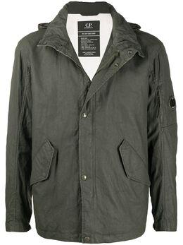 C.P. Company куртка с капюшоном и декором Lens OW104A005743W