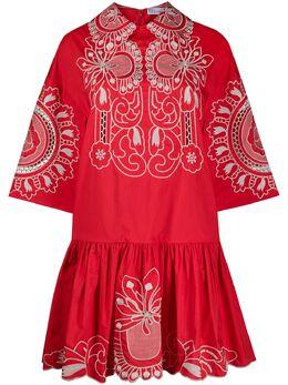 Red Valentino платье с цветочной вышивкой TR0VA13C52V