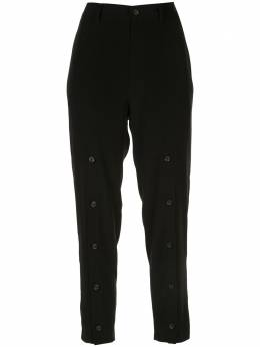 Yohji Yamamoto укороченные брюки строгого кроя NNP51500