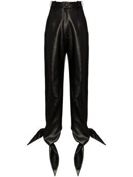 Materiel брюки из искусственной кожи с завышенной талией SS20ALN892PABKL