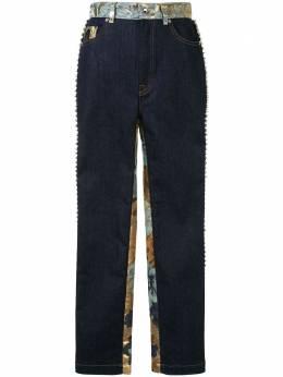 Dolce&Gabbana декорированные джинсы с жаккардовыми вставками FTBOTZG900E