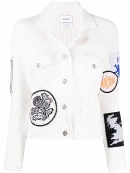 Barrie куртка с декором в технике пэчворк C85254
