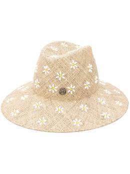 Maison Michel шляпа с цветочной вышивкой 1009047001