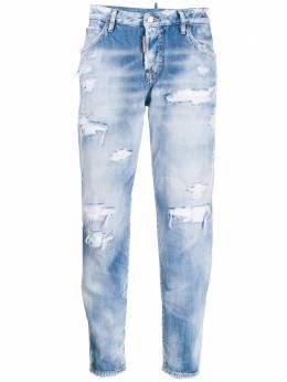 Dsquared2 укороченные джинсы с эффектом потертости S72LB0265S30309