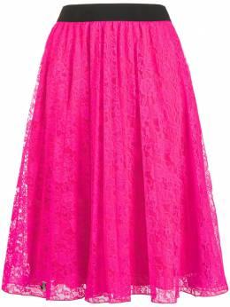 Philipp Plein юбка А-силуэта из цветочного кружева P20CWRV0281PTE003N