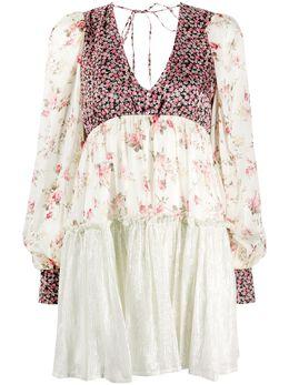 Wandering платье с V-образным вырезом и цветочным принтом WGS20416