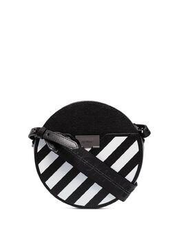 Off-White сумка через плечо в полоску OWNA110S20LEA0011001