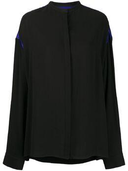 Haider Ackermann рубашка с контрастной вставкой 2036004108099
