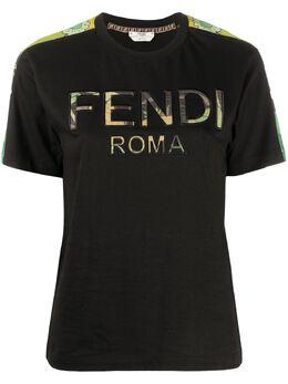 Fendi футболка с логотипом FS7285AC3C