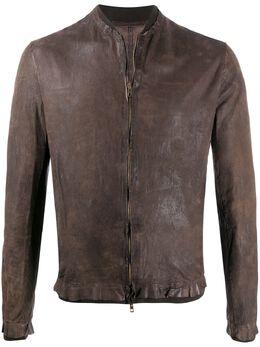 Salvatore Santoro куртка на молнии с необработанными краями 38535