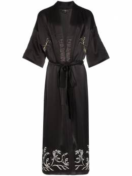 Edward Crutchley пальто-кимоно с вышивкой ROB007SATEMB