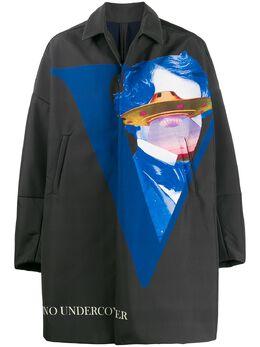 Undercover пальто оверсайз с принтом UFO UCX43102