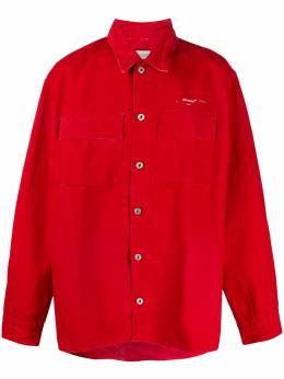 Off-White рубашка оверсайз с логотипом OMYD017S20E550252002