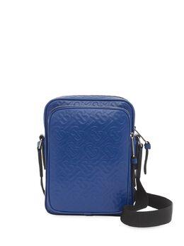 Burberry сумка-мессенджер с тисненой монограммой 8026691