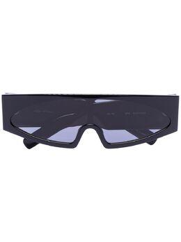 Rick Owens солнцезащитные очки Tecuatl в футуристичном стиле RA20S0592GBLKB