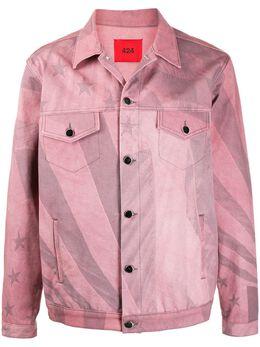 424 джинсовая куртка с принтом 0017