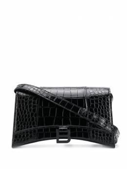 Balenciaga сумка на плечо Hourglass с тиснением под крокодила 6386761LR67