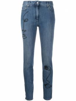 Moschino джинсы скинни Cornely с вышивкой A03080421