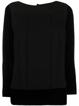 Chanel Pre-Owned блузка 1990-х годов с длинными рукавами DPGMCHABLKTOP