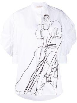 Alexander McQueen рубашка Dancing Girl с пышными рукавами 620951QDAAW