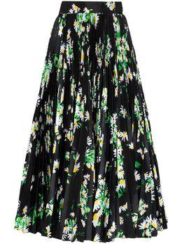 Richard Quinn юбка макси с завышенной талией и цветочным принтом RQSS2050D