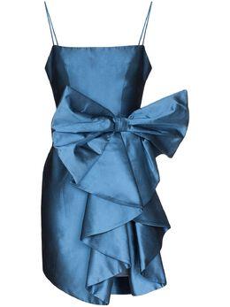 Rasario атласное платье мини с крупным бантом 0104S204