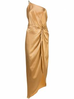 Michelle Mason платье асимметричного кроя с драпировкой M9166