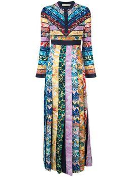 Mary Katrantzou платье макси в стиле колор-блок DESMINEMD054