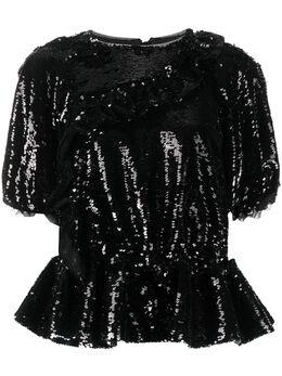 Simone Rocha блузка с пайетками 35620328