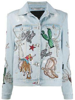 Philipp Plein джинсовая куртка Cowboy A19CWDB0346PDE004N