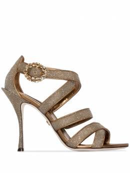 Dolce&Gabbana босоножки Keira 105 с блестками CR0927AX084