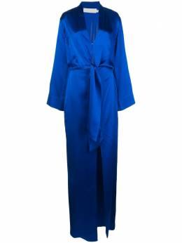 Michelle Mason длинное платье с завязками в стиле кимоно M9265