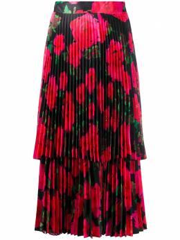 Richard Quinn плиссированная юбка с цветочным принтом RQSS2050TAFFETA