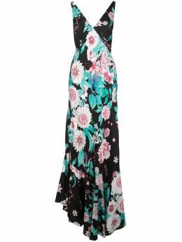 Dvf Diane Von Furstenberg платье с V-образным вырезом и цветочным принтом 14428DVF
