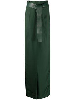 Salvatore Ferragamo брюки с завышенной талией и поясом 731063