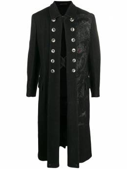 Yohji Yamamoto пальто с пуговицами HCJ32133