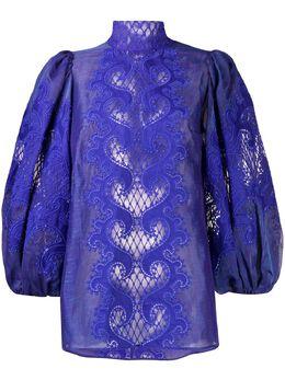 Zimmermann блузка Brightside с вышивкой 7762TBRI