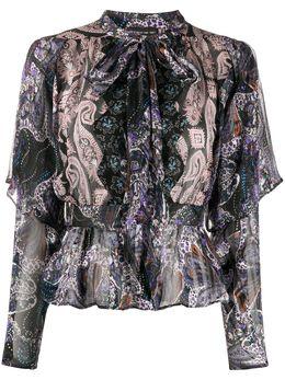 Etro блузка с оборками и принтом пейсли 135814594