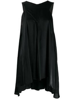 Ann Demeulemeester блузка свободного кроя без рукавов 20011802P126