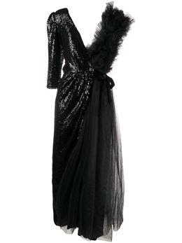 Alchemy платье асимметричного кроя с пайетками LIA87