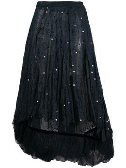Romeo Gigli Pre-Owned многослойная юбка 2000-х годов с пайетками RMG780