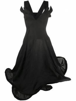 Yohji Yamamoto структурированное платье без рукавов FND06300