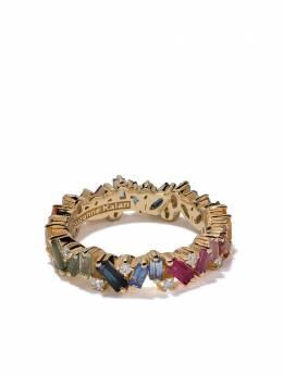Suzanne Kalan золотое кольцо Eternity Rainbow с бриллиантами и сапфирами BAR368YG