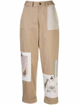 Monse укороченные брюки в технике пэчворк MS200748CST