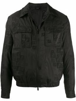 Fendi куртка с вышитым логотипом FF FW0430AA8I