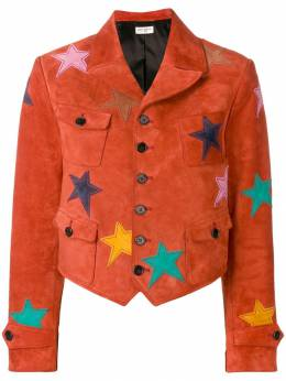 Saint Laurent куртка с нашивками в форме звезд 562064YC2AY